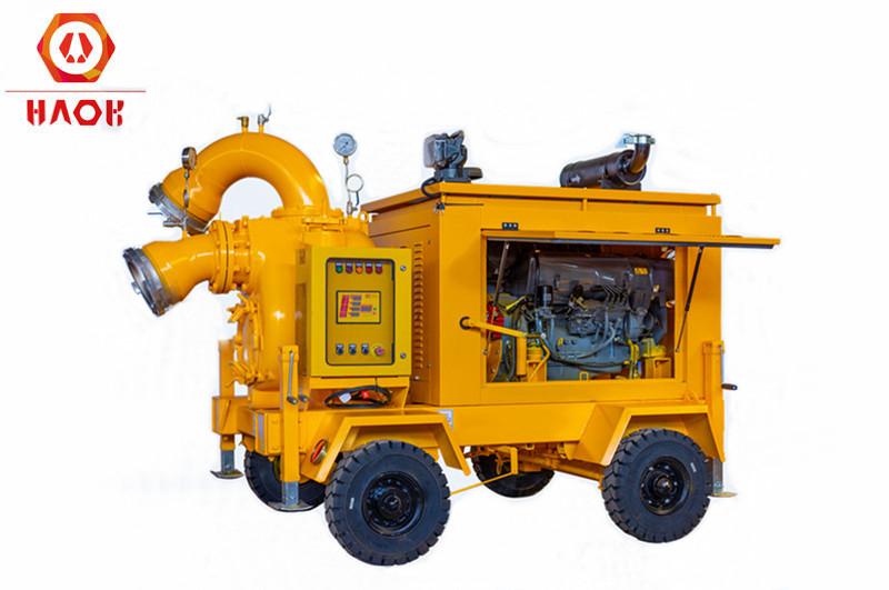 Self Priming Diesel Engine Trailer Pump