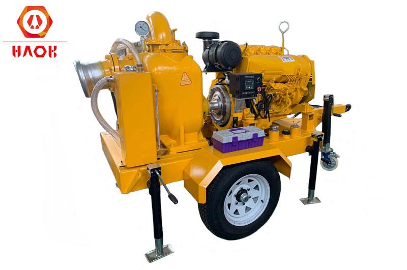 Deutz F4L912T Diesel Engine For Self Priming Trailer Pump Set